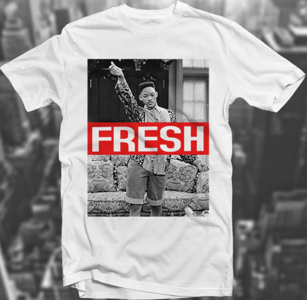 Design t shirt graphics online - Fresh Prince Swagg 90 S Sk8r Hipster Will Smith Trill White Polyester T Shirt Wholesale Summer Fashion