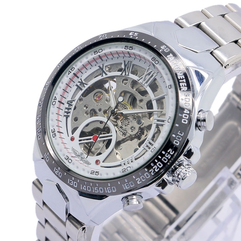 2016 Luxury Business Men's Mechanical Wrsit Watch With Stainless Steel Strap For Men Women