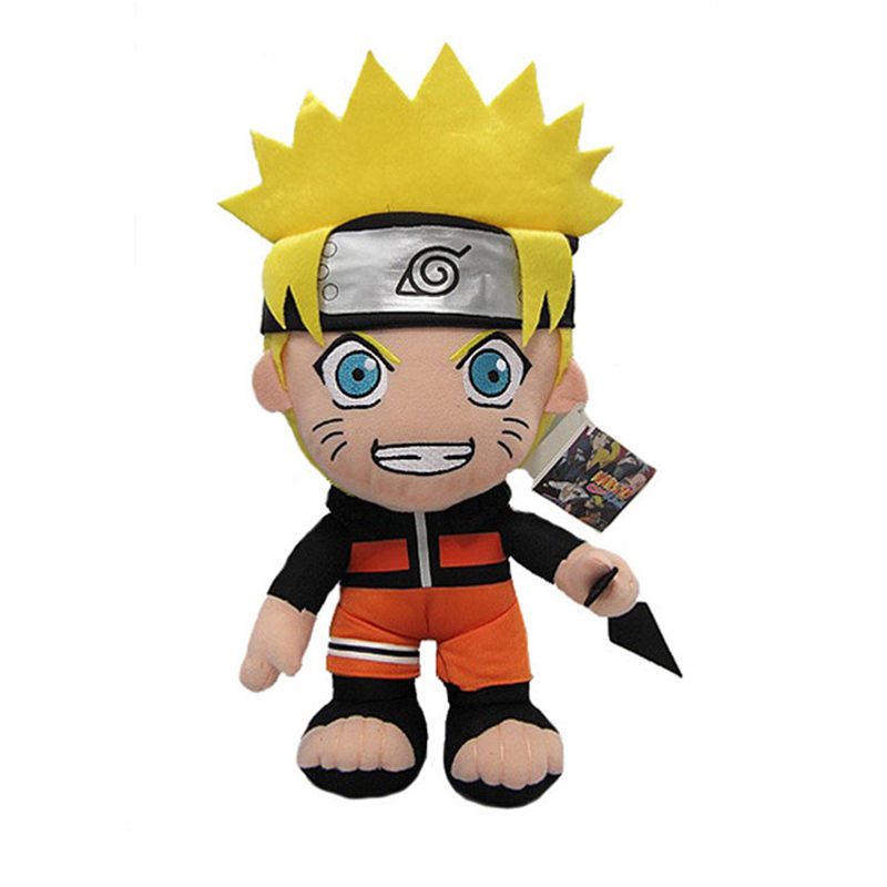 30cm Anime Naruto Uzumaki Naruto Plush Doll Toy Uzumaki Naruto Cosplay Costume Plush Soft Stuffed Toys Gift for Kids Children ainclu free shipping adult kid naruto shippuden ino yamanaka ninja suit anime cosplay costume for halloween