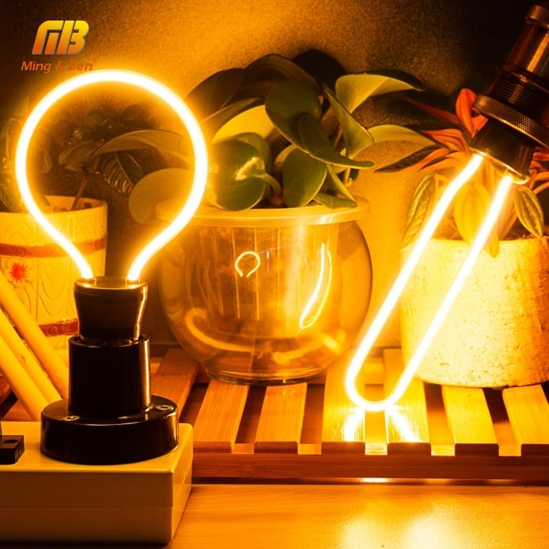 Ретро светильник Эдисона E27 3W 4W 4,5 W 8W AC220V уникальный винтажный светильник, мягкий светодиодный светильник с филаментом Ampoule Bombilla для подвесного светильника Лампы накаливания      АлиЭкспресс