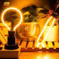 Retro Edison Light Bulbs E27 3W 4W 4.5W 8W AC220V Unique Vintage Light Soft LED Filament Ampoule Bombilla For Pendant Lamp Decor