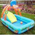 High quality multi slide swimming pool water pool baby ball pool children Castle pool 188X137X34CM