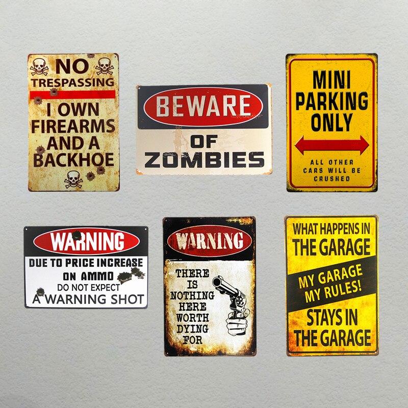 DL-предупреждение доска Винтаж лицензии плиты ремесел металлические знаки потертый шик современного искусства стены