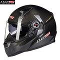 Fibra de carbono de la motocicleta casco de la moto ls2 cara llena motobike motocicleta casco casque cacapete kask 396tx hombres racing cascos ece