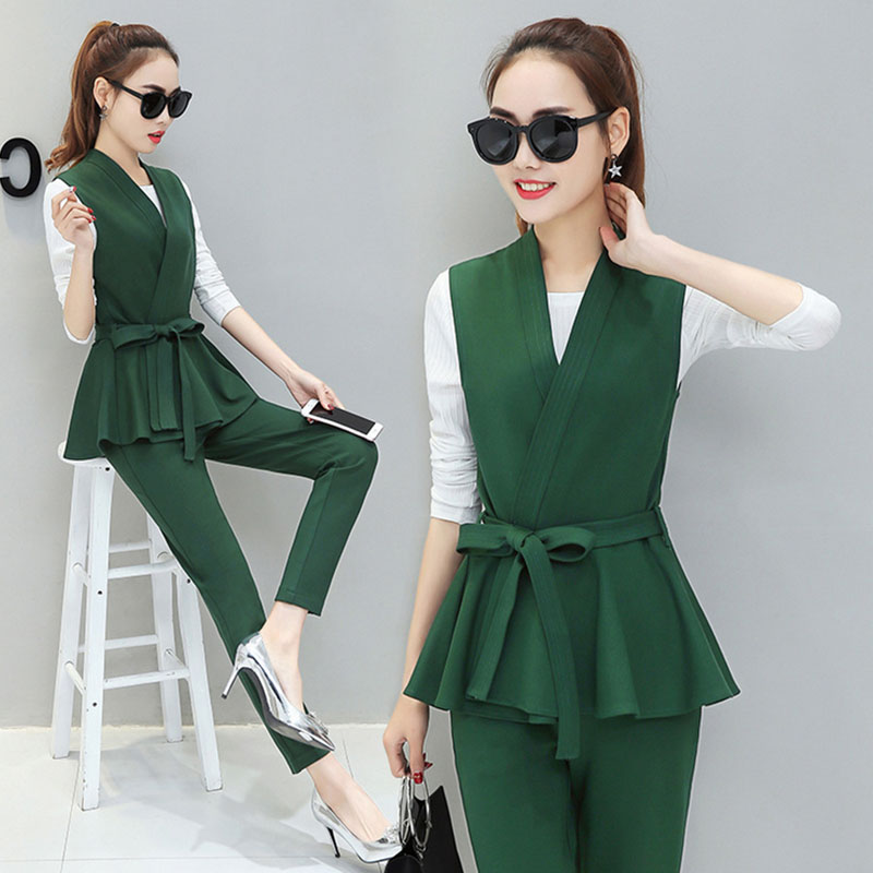 Brilliant Graceful Womens Career Suits Dress Vest Waistcoat Skirt Suits Pants Dress Blouse | EBay