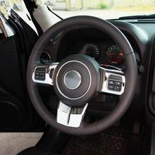 YAQUICKA 3 шт./компл. подкладке рулевого колеса автомобиля крышки отделочный стикер Стайлинг Fit для Jeep Patriot компас Wrangler 2011-2015 ABS