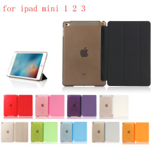 HUEVN PC Leather  Case for Apple iPad mini 1 2 3 Fashion Smart Cover + translucent back A1455`A1489`A1490`A1491