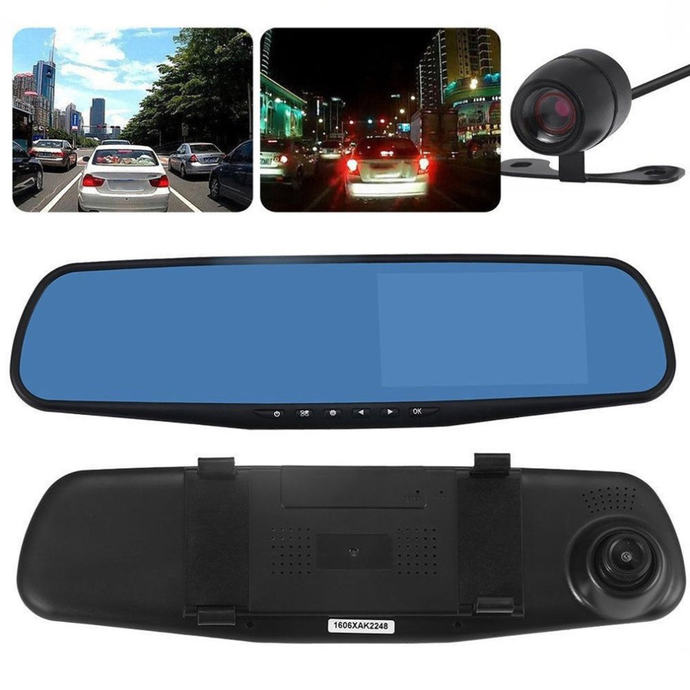HD 1080P Car DVR Dash Camera Dual Cam Vehicle Front Rear DVR Lens Video Recorder Front