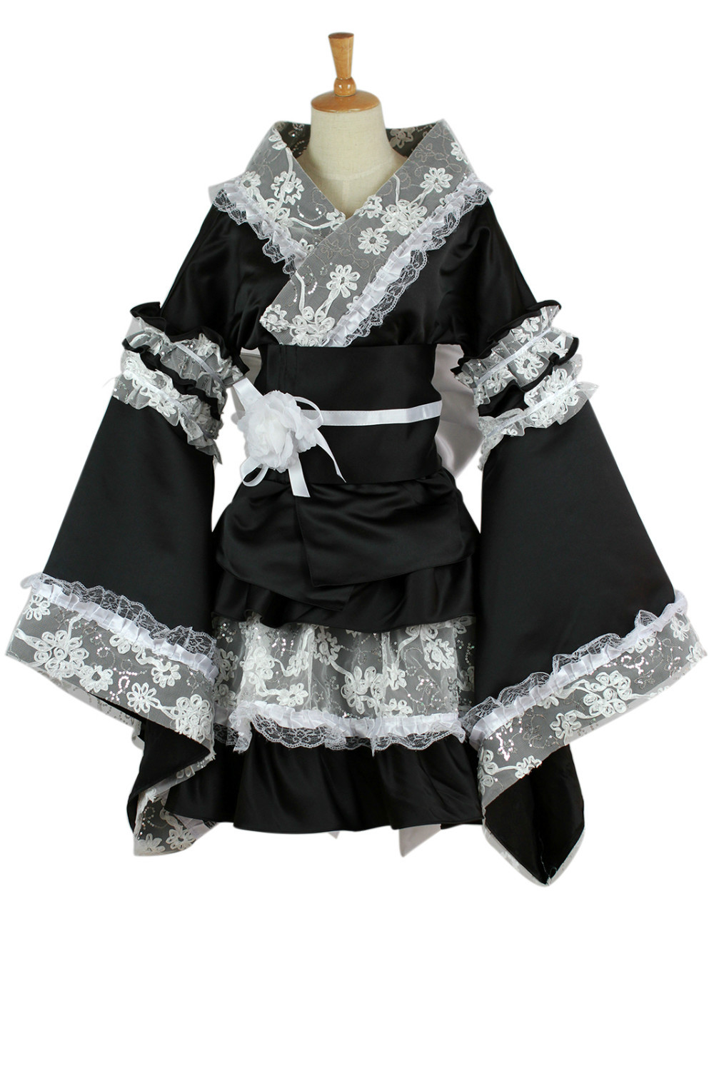 maid cosplay costume for women anime clothes lace kimono