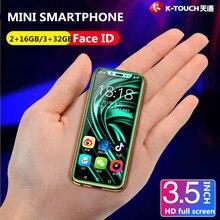 Бесплатная чехол экран протектор Супер Мини 4 г смартфон K-TOUCH I9 уход за кожей лица ID металла рамки Android 8,1 Telefone Dual SIM мобильный телефон