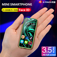 Free Case Screen Protector Super Mini 4G SmartPhone K TOUCH I9 Face ID Metal Frame Android 8.1 Telefone Dual SIM Mobile Phone