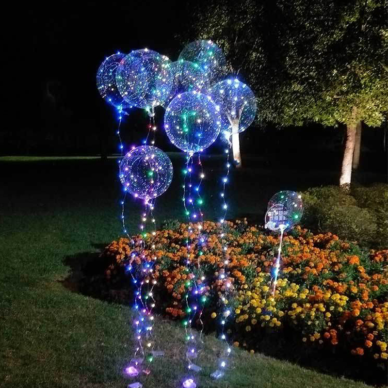 50PCS Romantic wedding Party Wave Ball Flasher Lights LED Balloon Lights String Luminous Balloons garland christmas lights
