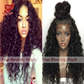 Soft Curly Synthetic Lace Front Wig Heat Resistant Fiber Hair Wigs with Baby Hair Synthetic Curly Wigs for Black Women