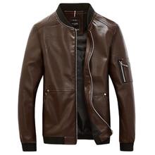 New 2017 Fashion PU Leather Motorcycle Jacket Men Korean Style Baseball Collar Jackets and Coat Male