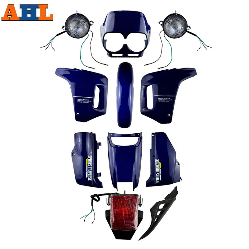 Ahl azul/preto abs plástico carenagem cowl carroçaria kit conjunto para honda nx250 ax-1 ax1 nx 250 esportes traverse