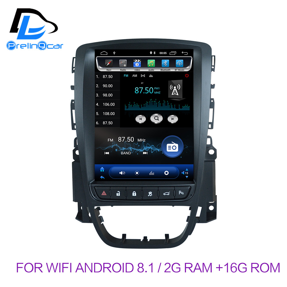 32G ROM Vertical screen android 8.1 system car gps multimedia video radio player in dash for opel ASTRA J car navigaton stereo