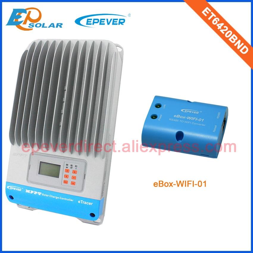 60A 60amp 12v/24v/36v/48v solar controller panel charger MPPT ET6420BND with wifi function  Max Pv Input 190V60A 60amp 12v/24v/36v/48v solar controller panel charger MPPT ET6420BND with wifi function  Max Pv Input 190V