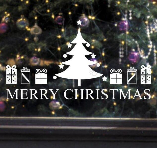 Веселая Chirstmas Наклейки на стену ПВХ Наклейки Рождество дерево росписи Книги по искусству Наклейки на стену x mas Наклейки design1152