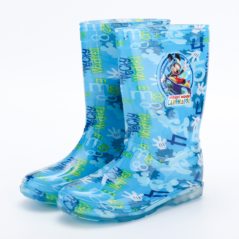 Image 5 - 2019 new Disney princess frozen children rain boots rubber shoes cartoon men and women PVC girls  water shoes size 26 31-in Boots from Mother & Kids