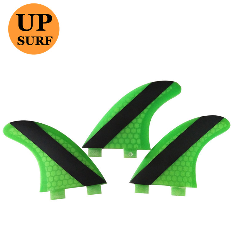 New FCS fin G3 fin honey comb fin green FCS G3 Fins Free shipping in Surfing from Sports Entertainment