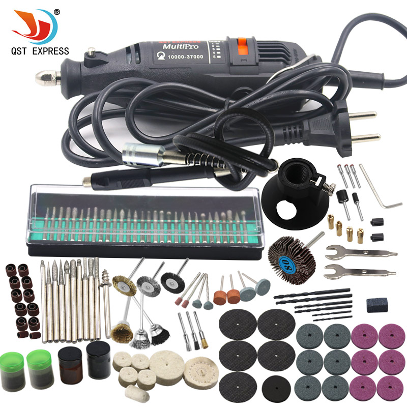 180W Electric Mini Drill 220V Variable Speed Rotary Tool With 193pcs Power Tools Accessories For Dremel