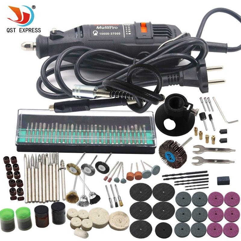 180 W eléctrico mini taladro 220 v velocidad variable Rotary Tool con 193 unids Herramientas eléctricas Accesorios para dremel mini Picadoras
