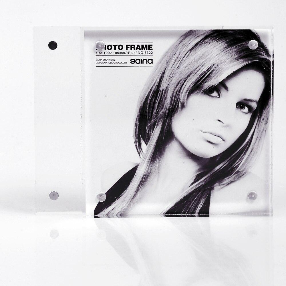 8x8 pouces forme carrée libre debout acrylique Perspex aimant cadres Photo PF003-2