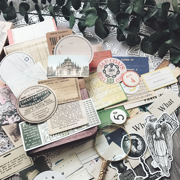 52pc/pack Vintage series retro Stamp Old Newspaper Journal Decorative Sticker DIY Scrapbooking Label Diary Album Sticker Escolar lovely chicken transparent clear silicone stamp seal for diy scrapbooking photo album decorative clear stamp sheets