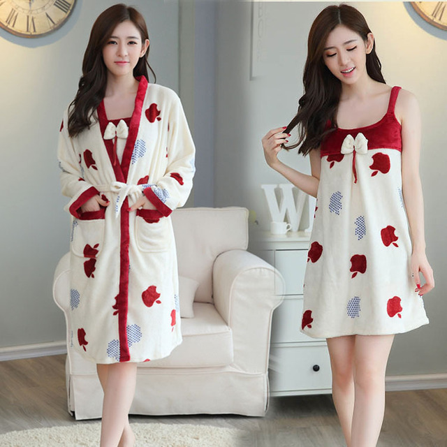 Robes Special Offer Mujer Pijama Women Dress Winter 2016 New Explosion Gown Ms. Coral Bathrobe Clubman Thickened Size Pajamas