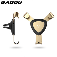 GAQOU Gravity Air Vent Mount Car Mobile Phone Holder Stand For IPhone 6s 7 Plus 360