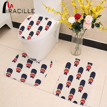 Miracille 3Pcs/set Bathroom Mat Set Carpets London Royal Guard Toilet Rug Matched Anti-slip Bath Mat for Bathroom Home Decor(China)
