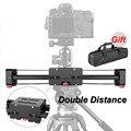 Новый Портативный Путешествия Регулируемая DSLR Видеокамера Слайдер Трек 500 мм Двойной Расстояние для SLR DV Камеры Видеокамеры Долли Стабилизатор