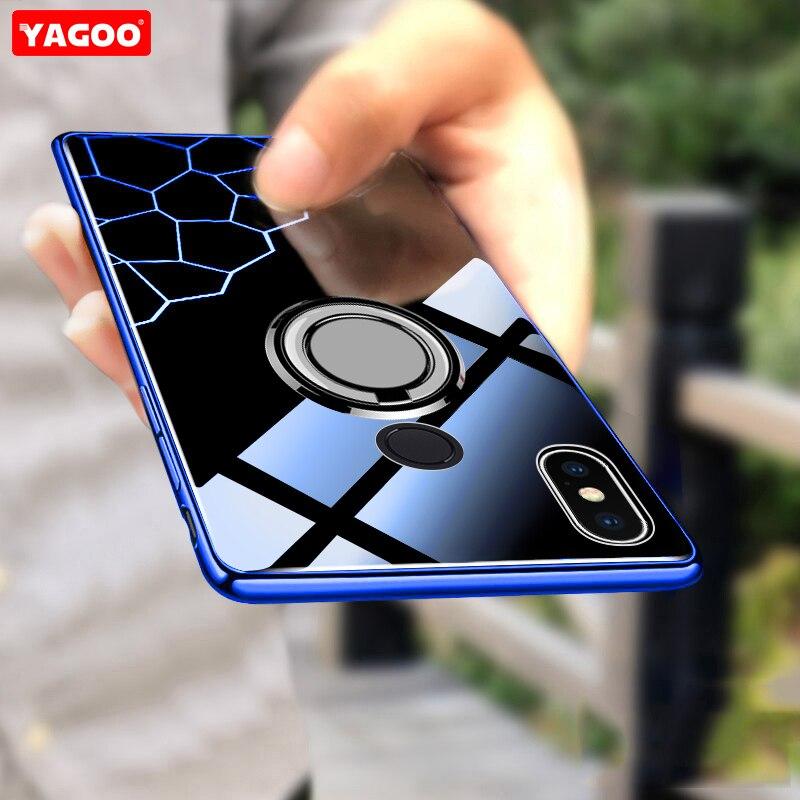Yagoo Für Xiaomi Redmi Hinweis 5 Fall Für Xiaomi Redmi Hinweis 5 Pro Fall Metall Finger Ring Zurück Abdeckung Luxus fall Für Redmi Note 5