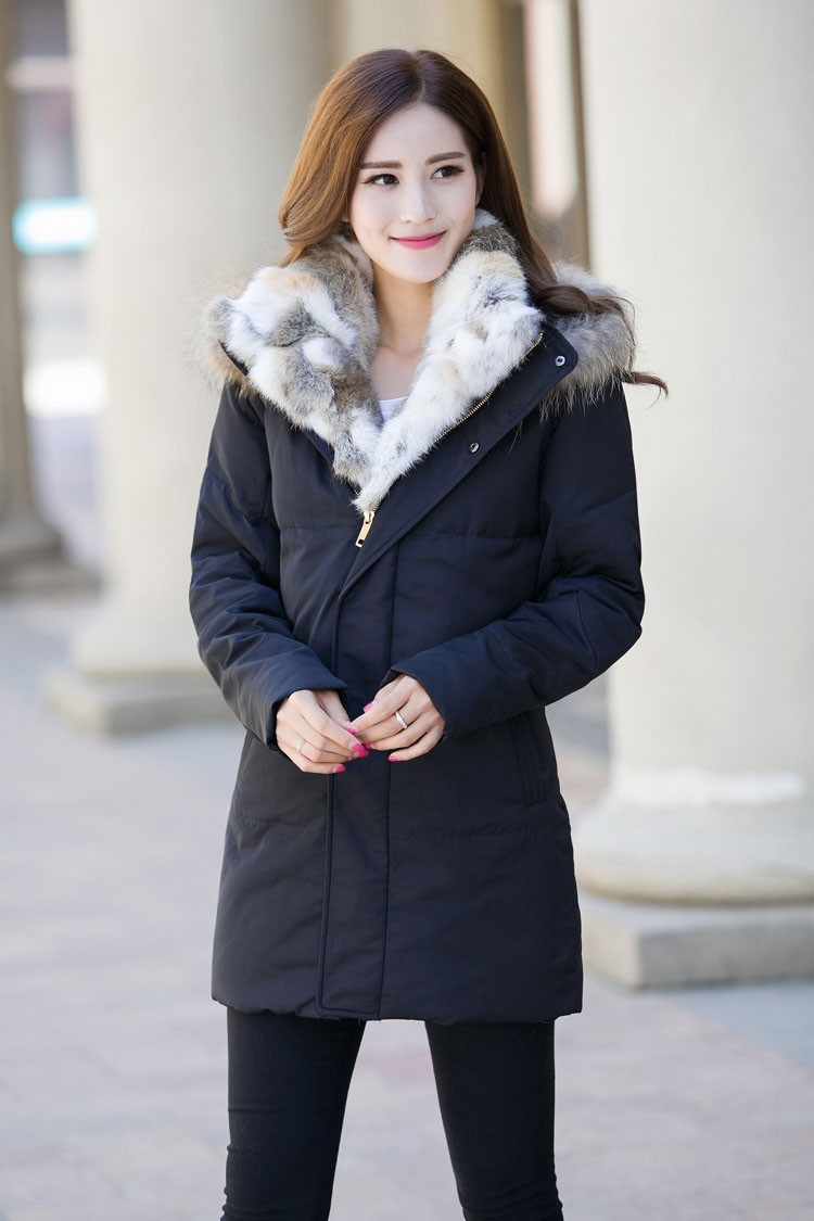 Winter Down Jacket Men Fur Parka Fashion Casual Thicken Warm Fur collar Hooded Men Women jacket&coat couple Down Jacket S-5XL (1)