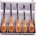 Envío gratis 5 unids/lote xilografía cuchillo butt/esquina/inclinación/ronda/Arc machete de Carpintería cincel talla para artesanías de madera graver Impresiones