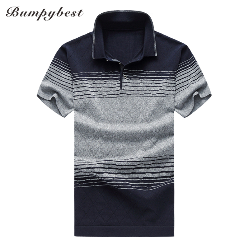 Bumpybeast Mulberry silk   polo   shirt men Plus Size M-6XL Short Sleeve 2018 Summer High-quality   polos   para hombre Casual Clothing
