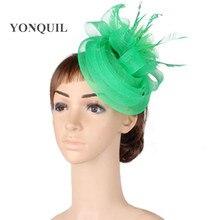 Fashion multiple color crinoline fascinator headwear wedding hat colorful mesh occasion headpiece party hair accessories MYQ135