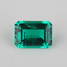 คุณภาพสูงเหลี่ยมมรกตตัด 5*7mm Lab Emerald Hydrothermal Emerald Stone สำหรับเครื่องประดับ
