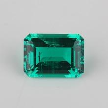 Alta qualidade octagon esmeralda corte 5*7mm laboratório esmeralda pedra esmeralda hidrotérmica para jóias.