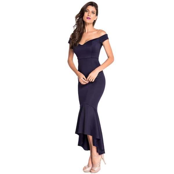 Womens Off-shoulder Elegant Mermaid Dress Summer Autumn Formal Dresses For Special occasion
