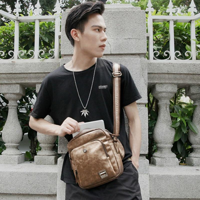 Men 39 s USB Chest Bag Designer Messenger bag Leather Shoulder Bags Diagonal Package new Back Pack Travel Men 39 s Crossbody Bags