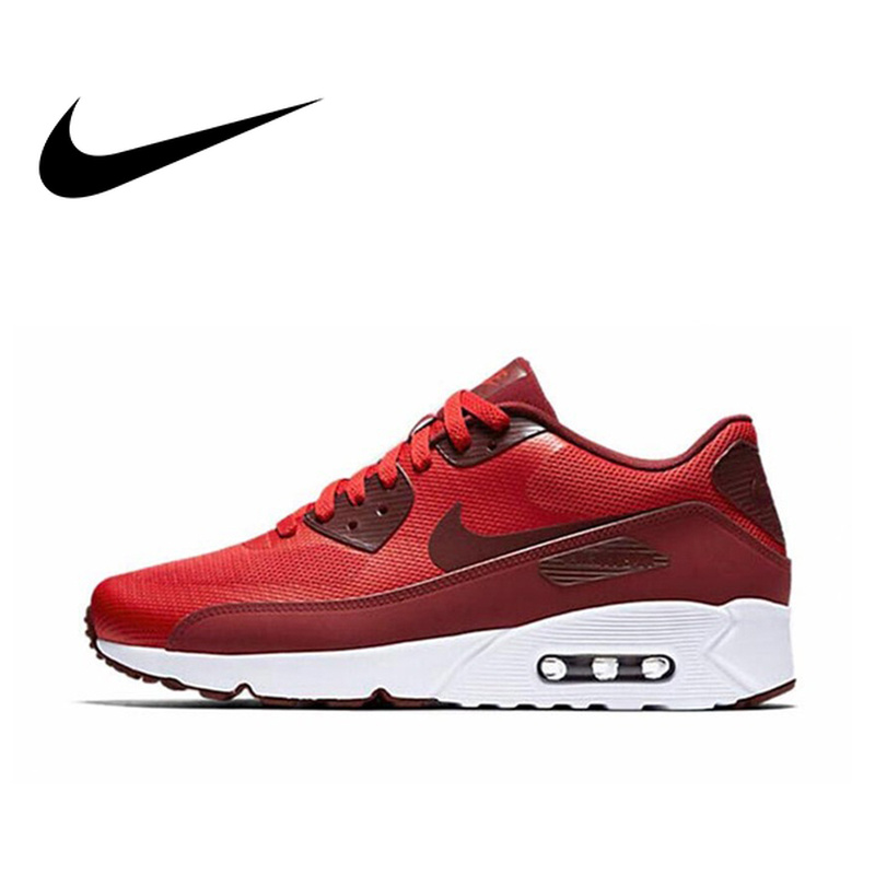 Official Original NIKE AIR MAX 90 ULTRA 2.0 Men's Breathable Running Shoes Sneakers Limited Classic Outdoor Leisure Sports 2018(China)