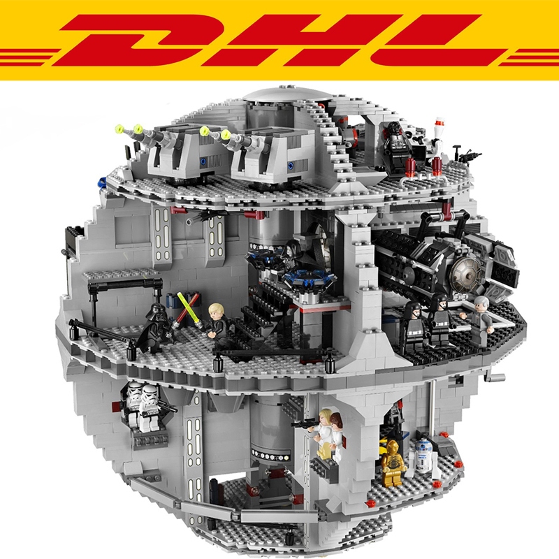 2017 New 3803Pcs Star Wars Death Star Model Building Kits Figures Blocks Bricks Educational Children Toy Gift Compatible 10188 lepin 05035 star wars death star limited edition model building kit millenniums blocks puzzle compatible legoed 75159