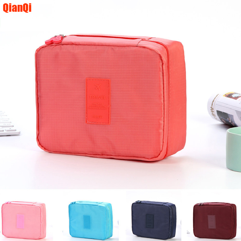 QianQi 2019  Multifunction Travel Cosmetic Bag Women Toiletries Organizer Makeup Bags Waterproof Female Storage Make Up Cases