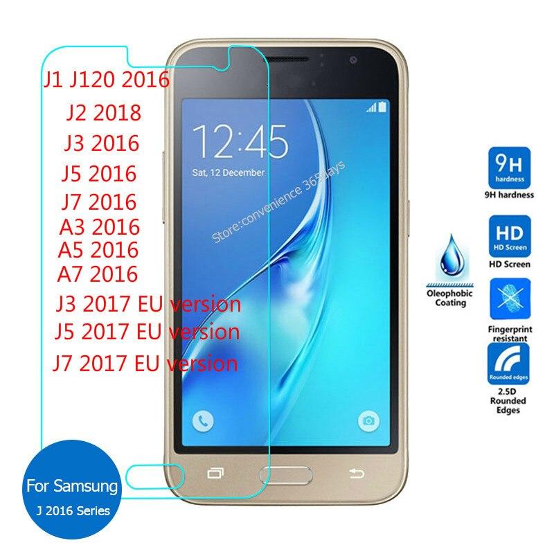 Verre Trempé 9 H pour Samsung Galaxy A3 A5 A7 2017 J5 2016 Protecteur d'écran SM-J510H J530F J510FN J2 J5 2017 Verre Trempe 2.5D