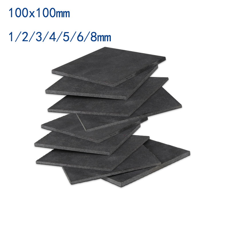 100x100mm High Purity Graphite Sheet Graphite Plate High Purity Mould DIY Use 3D Print 1 2 3 4 5 6 8 Mm