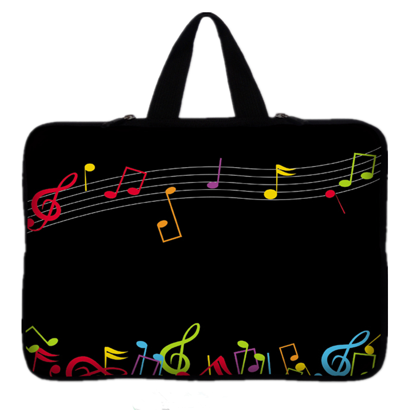 9.7 10 12 13 15 inch Music Note laptop bag tablet sleeve case with handle PC handbag 13.3 15.6 11 14 inch notebook cover pouch waterproof canvas organizer laptop sleeve case bag with handle