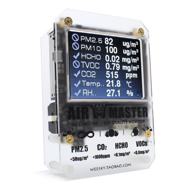Nouveau AirMaster2 AM7p détecteur de qualité d'air intérieur/moniteur/Laser pm2.5/7in1 avec haut de gamme gaz capteurs testeur/officiel de vente au détail