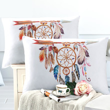 Colorful Dream Catcher Pillowcase Bohemia Mandala Print Pillow Case King Queen Cover Soft Bedclothes D30