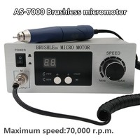 70,000 RPM Non Carbon Brushless Aluminium Shell Dental Micromotor Polishing Unit with lab handpiece dental micro motor